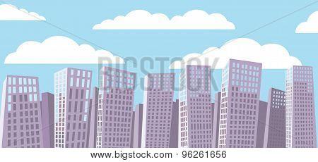 Cartoon cityscape background