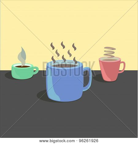 Three Cups Hot Drinks