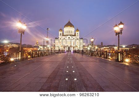 Cathedral of Christ the Savior from the Patriarchal bridge