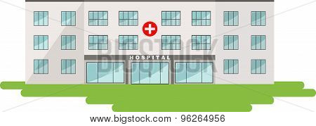Medical concept. Panoramic background with hospital building
