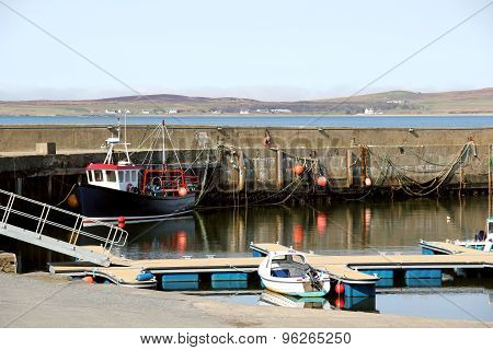 Bowmore Harbour, Isle Of Islay, Scotland.