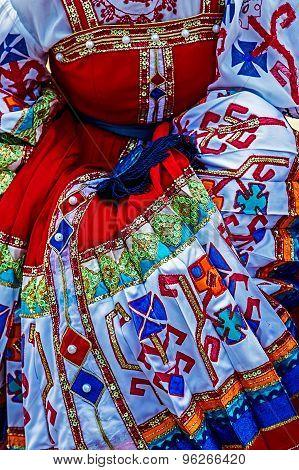 Detail Of Ukrainian Folk Costume For Women