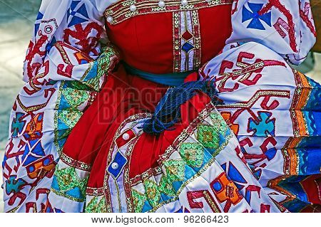 Detail Of Ukrainian Folk Costume For Women 1