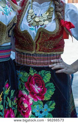 Detail Of Serbian Folk Costume For Women 1