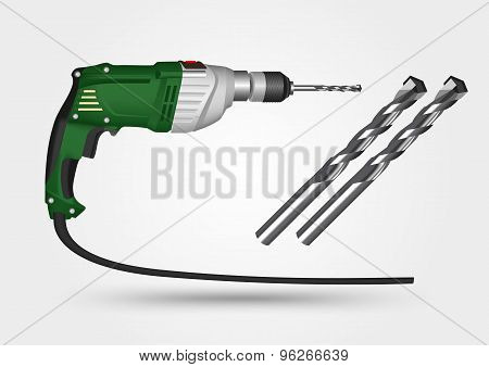 electric drill and drill bit