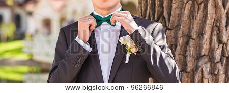 man in a bow tie