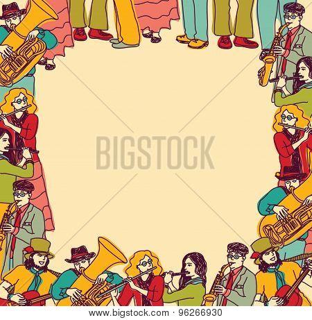 Frame border card musicians band color