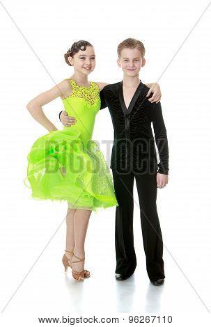 Beautiful young couple dancing