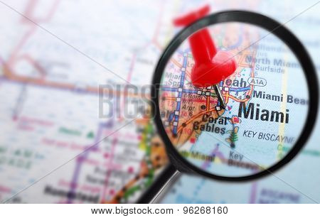 Miami Map Magnified