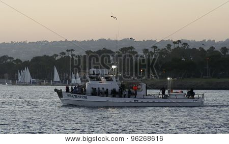 A Seaforth Sportfishing Boat, Mission Bay, San Diego