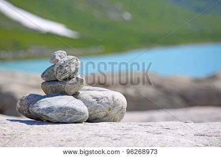 Stack Of Rocks In Norway