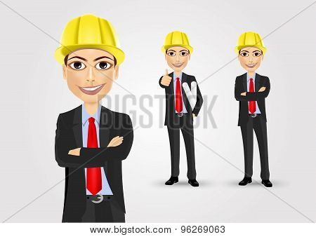 male engineer with crossed arms