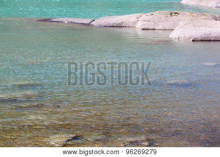 Stones In Glacial River