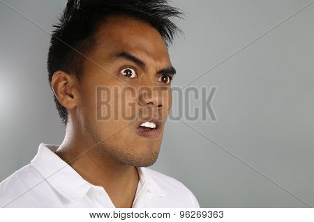 Shocked young male