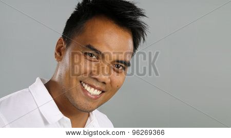 Young filipino smiling