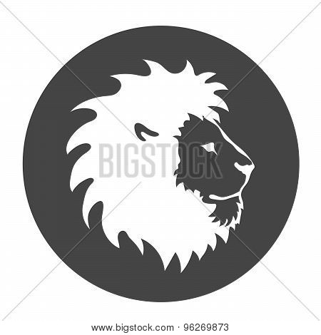 Lion face logo emblem template for business or t-shirt design. Vector Design Element.