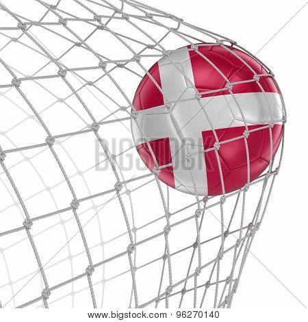 Danish soccerball in net