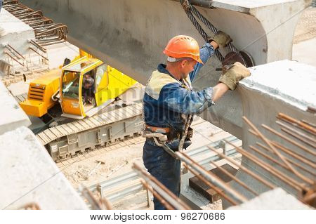 bridge construction in Tyumen. Russia