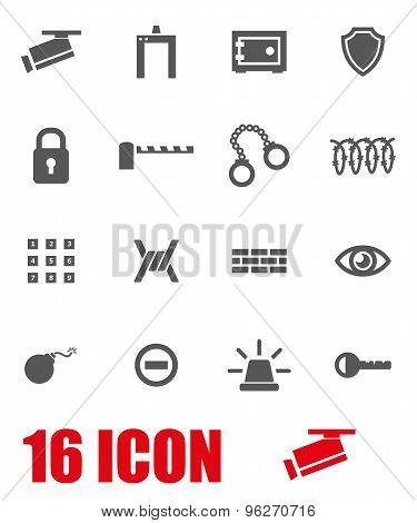 Vector grey security icon set