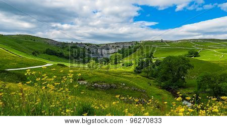 Malham Cove in Summer