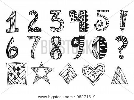 Hand drawn numbers collection