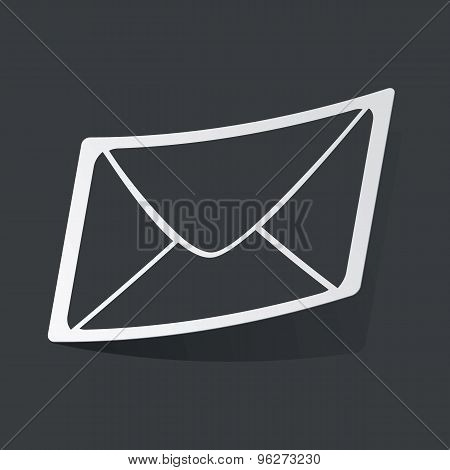 Monochrome letter sticker