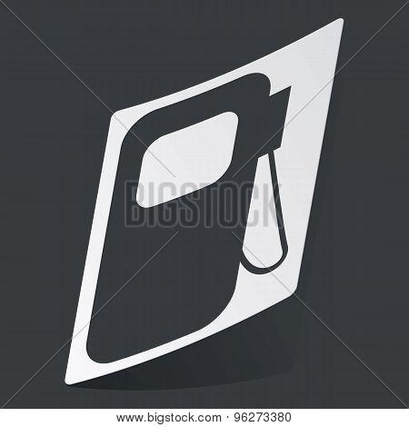 Monochrome gas station sticker