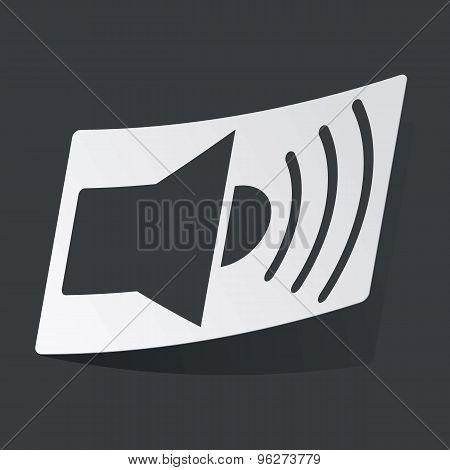 Monochrome sound sticker