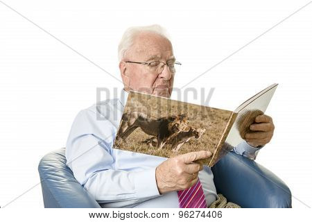 Senior Reading A Picture Book