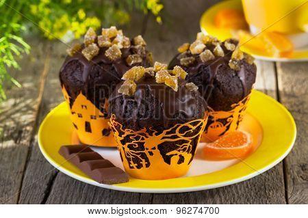 Chocolate Muffins On Halloween