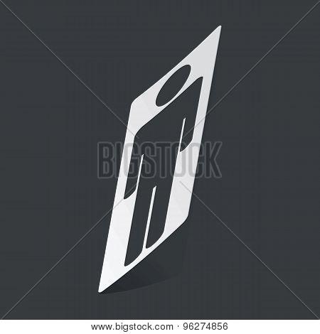 Monochrome man sticker