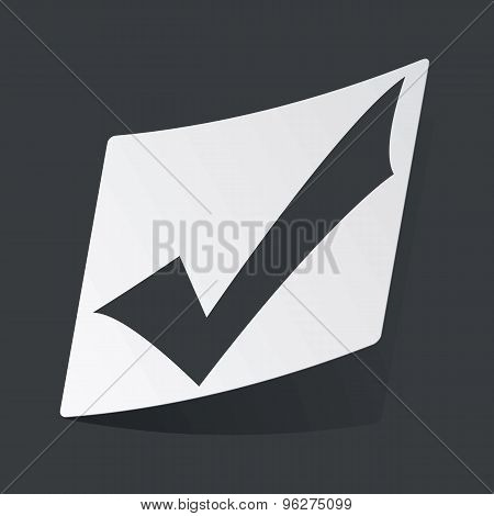 Monochrome tick mark sticker