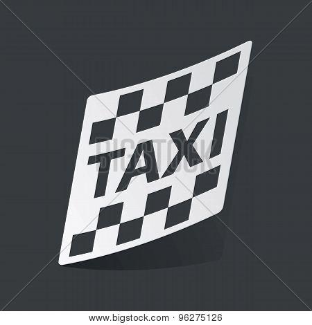 Monochrome taxi sticker