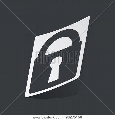 Monochrome locked sticker