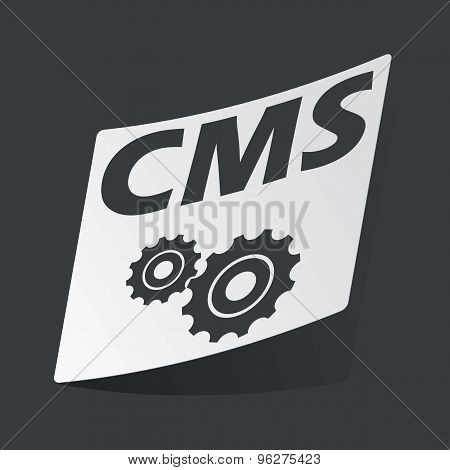 Monochrome CMS settings sticker
