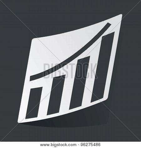 Monochrome bar graphic sticker