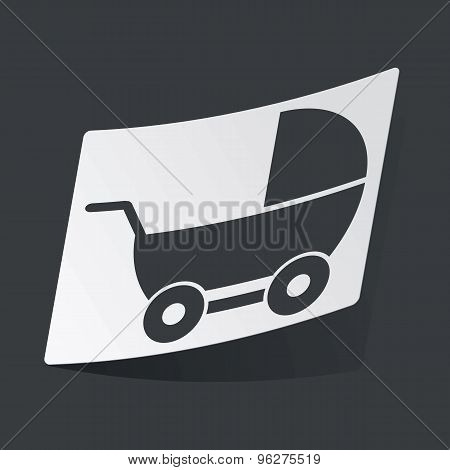Monochrome pram sticker