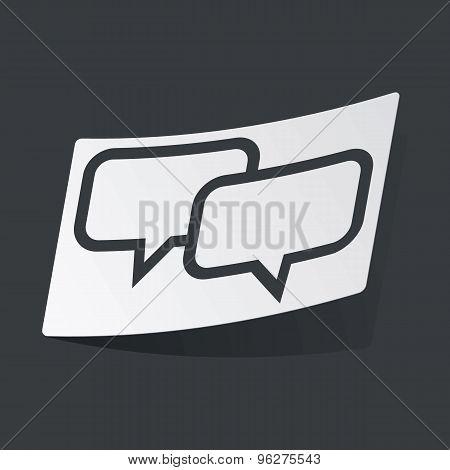 Monochrome chat sticker