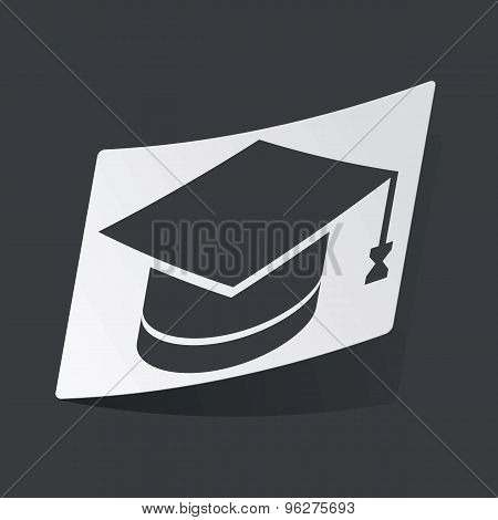 Monochrome graduation sticker