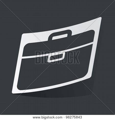 Monochrome briefcase sticker