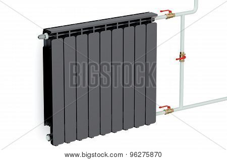 Black Heating Radiator