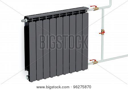 Black Heating Radiator