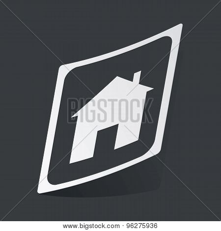Monochrome house plate sticker