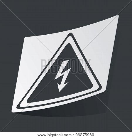 Monochrome high voltage sticker