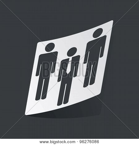 Monochrome work group sticker