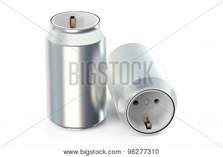 Drink Cans With Socket, Energy Drink Concept