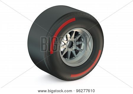 Racing Wheel With Hard Tyre