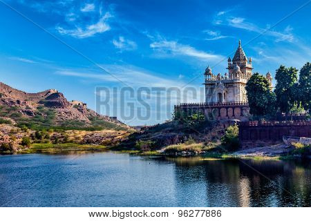Indian landmark Jaswanth Thada mausoleum, Jodhpur, Rajasthan, India