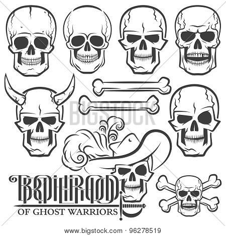 Skulls of various designs