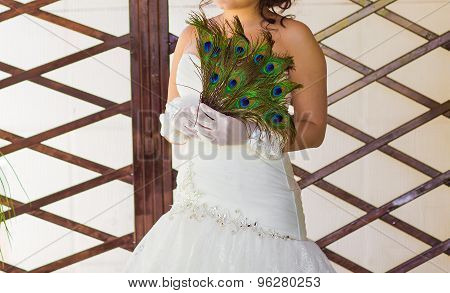 Bride with fan